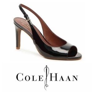 Cole Haan Open-Toe Slingback Pumps